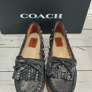 COACH REXY ROCCASIN SLIP ON MOCCASIN SHOES